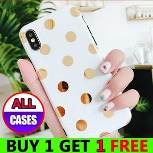 Accessories - *NEW iPhone Max/XR/XS/X/7/8/Plus Polka Dot Case